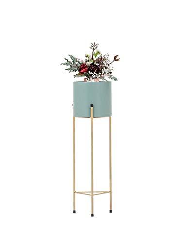 JNYZQ Nordische kreative Runde Schmiedeeisen-Blumen-Stand-Balkon-Wohnzimmer-Innenstehendes modernes mehrschichtiges grünes Blumen-Topf-Blumen-Regal (Farbe : Green, größe : Trumpet)
