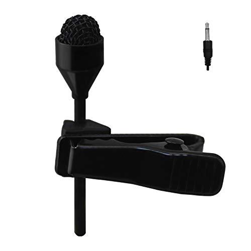 JK MIC-J 044 Lavalier Lapel Clip On Omni-Directional Condenser Microphone Compatible with Desktop Computer/Portable Voice Amplifier (Mono 1/8'' TS Plug)