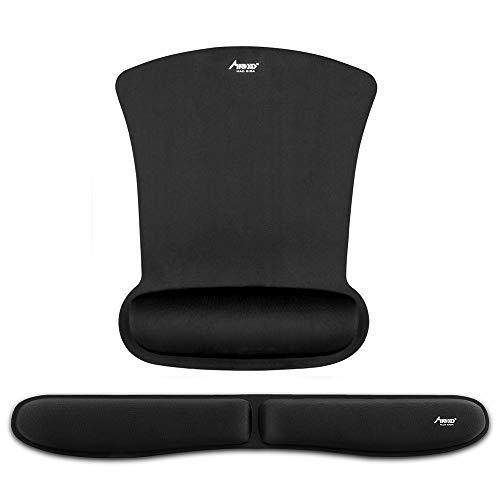 Mauspad, Madgiga ergonomische Handgelenkauflage Handballenauflage Mouse Tastatur Handgelenkstütze Set, rutschfeste Unterlage, Anti-Sehnenscheidenprobleme Mauspad für die Arbeit von zu Hause aus