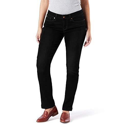 Signature by Levi Strauss & Co. Gold Label Women's Modern Straight Jeans, Noir Gold, 10 Medium