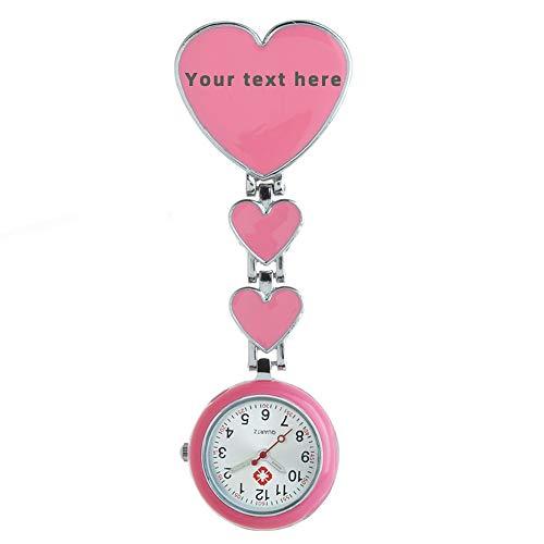 Krankenschwestern Armbanduhr Unisex Doktor, Personalisierte Krankenschwester Uhr Brosche Taschenuhr mit Clip, Taschenuhr Ansteckuhr Analog - Graduierung Muttertagsgeschenk
