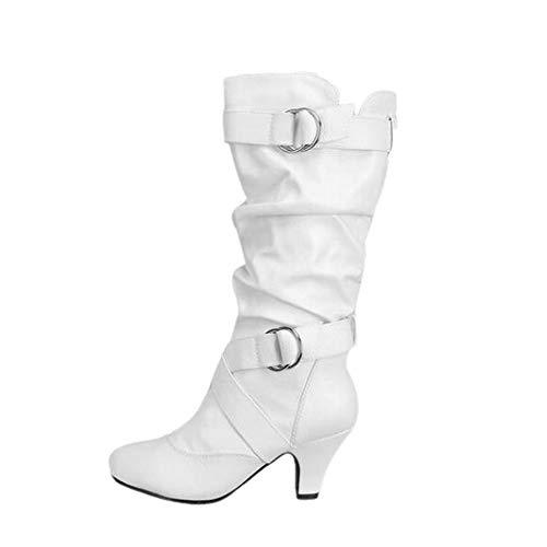 FAMILIZO Botas Mujeres Atractivas De La Moda sobre La Rodilla Botas Altas De Tacón Alto Botas De Muslo Botas Otoño Botas Mujer Invierno