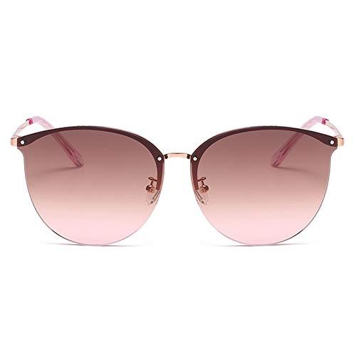 WOXING Blendfreie Radfahren Reisebrille Eyewear,Damen Mit Uv-Schutz Mode Sport Sonnenbrille,Unbreakable Metall Klassische Sportbrille,Angeln Fahren Brille-B 15.3x5.7cm(6x2inch)
