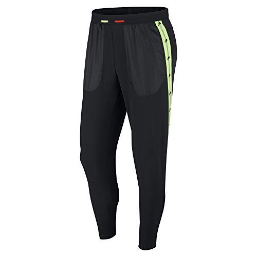 Nike Herren Sport Trousers M Nk Wild Run Phenom Pant 2, Black/Electric Green/Habanero Red, L, CJ0741