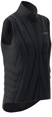 CEP – Winter Run Vest für Damen   Outdoor Laufweste aus windfestem Material in schwarz Größe XS