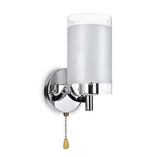 Elegante LED Wandleuchte Nachtwandleuchte Gangflur Balkonleuchte Mit Zugschalter, 220V Nachttisch Lampe, Moderne Stil Wandlampe Für Das Wohnzimmer Schlafzimmer