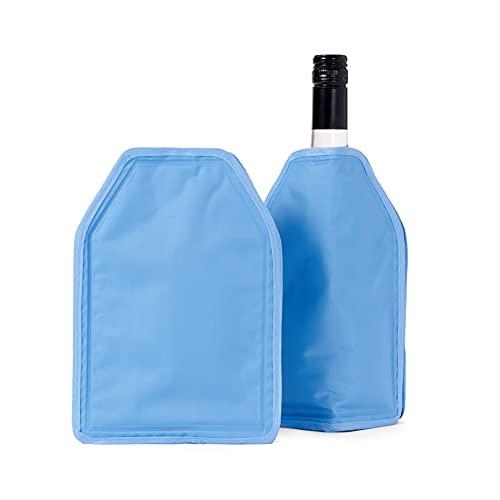 BRAMBLE! 2 Pack Funda Enfriadora de Vino con Gel - Efecto de Enfriamiento de Larga Duración