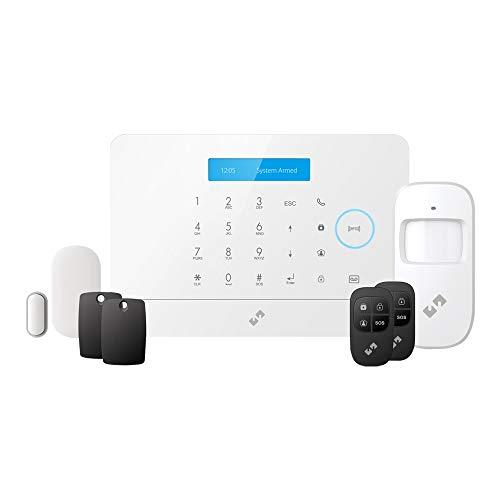 Nivian sistema de alarma anti-robo sin cuotas inalámbrica–Wifi/GSM–KIT ampliable hasta 60 dispositivos–LCD–Control remoto a través de APP Tuya-Fácil instalación P2P con QR sin necesidad de cables