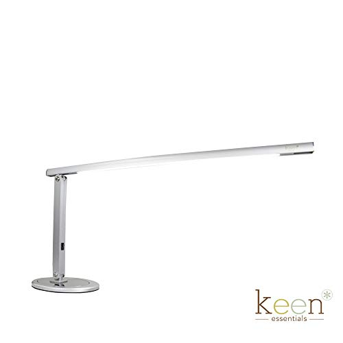 KEEN Slim-Line LED Table W/USB Charging Port Lamp for Nail Salon Manicure Table, Spa Reception, Massage Spa Furniture & Equipment