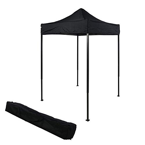 OTLIVE 5x5 Tent Commercial Instant Car Shelters Wedding Party Easy Pop Up Canopies with Carry Bag (Black,Black Frame)