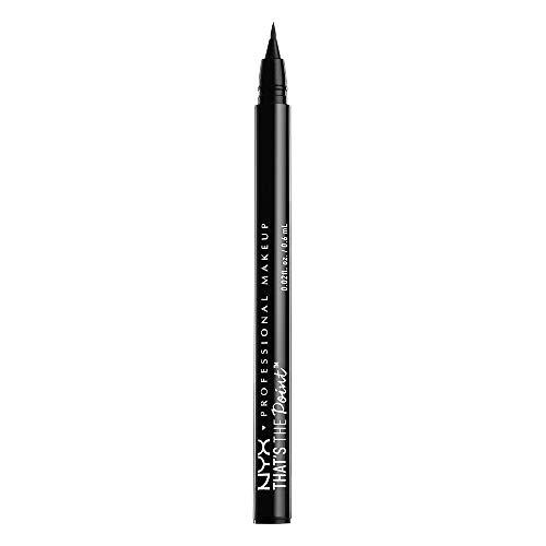 NYX Professional Makeup That's The Point Eyeliner - Eyeliner-Kollektion mit 7 tiefschwarzen Stiften, verschiedene Applikatoren, 1,1 ml, Hella Fine