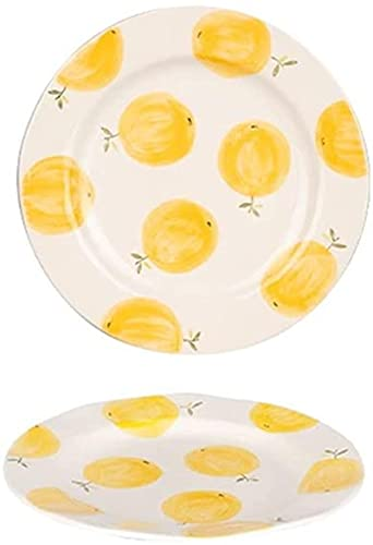 xinwan Placas de Cena de Porcelana 9.25 Pulgadas de Postre Redondo Placas para Ensalada de Frutas bistec y snak Moderno vajilla de Cena Porcelana Porcelana sirviendo Platos Platos Platos