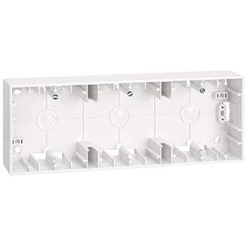 Caja de superficie para 3 elementos Simon 27 Blanco: Amazon.es: Bricolaje y herramientas