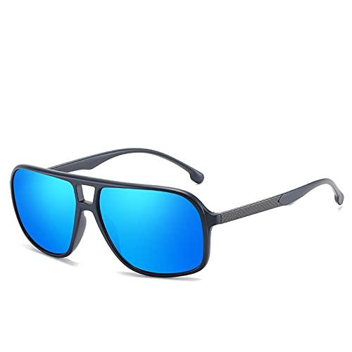ZEMENG Gafas de Sol de Ciclismo, Hombres Mujeres Polarizadas Gafas de Sol, Conducción al Aire Libre Espejo Clásico Gafas de Sol, Ciclismo Reading Gafas Unisex, Protección UV400,A