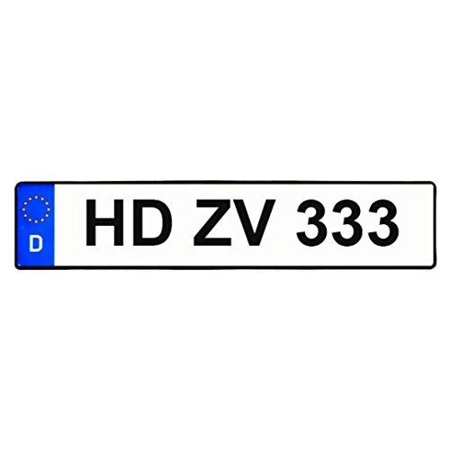 1 Standart 520x110 zertifiziertes EU Kennzeichen nach DIN,LKW/PKW,Saison,Wunschname,Wunschname mit Geburtsdatum,Elektro,Historisch,Parkplatz