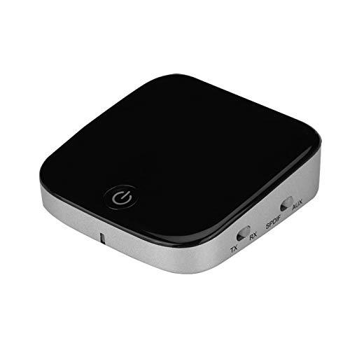 Shipenophy Distancia de 30 pies Transmisor Bluetooth Conexión multipunto Transmisor de Audio Bluetooth Transmisor Bluetooth Dos en uno (TX) y Receptor (RX) Dispositivo