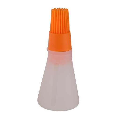 Pinceaux Outil De Cuisson De Confiture De Beurre De Beurre De Brosse Détachable De Brosse D'Huile De Silicone, Orange 2Pcs