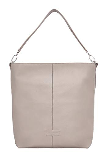 Liebeskind Berlin Damen Essential Hobo Medium Schultertasche Grau (String Grey)
