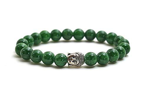 Jade pulsera de Buda de piedra natural o perlas de piedras volcánicas y perla fina budista - BERGERLIN Feel Goods