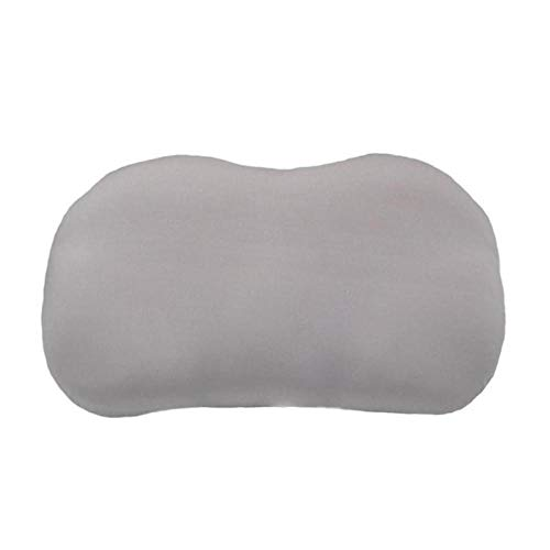 Almohada de cuello en 3D para dormir profundo, cojín de aire, almohada para alivio de presión, funda lavable, color gris, blanco