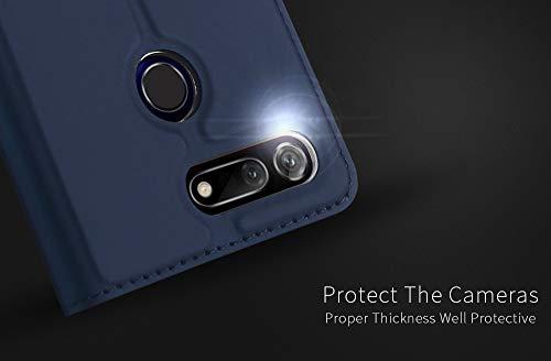 DUX DUCIS Hülle für Honor View 20, Leder Flip Handyhülle Schutzhülle Tasche Case mit [Kartenfach] [Standfunktion] [Magnetverschluss] für Huawei Honor View 20 (Blau) - 6