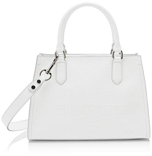 Trussardi Jeans T-Tote High Frequency, Borsa Donna, Bianco...