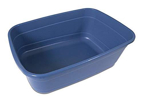 Petmate Giant Litter Pan High-Capacity Cat Litter Box Blue Mesa Color
