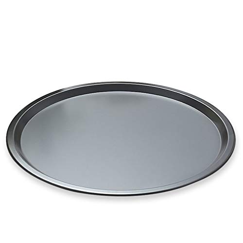 Plato de Pizza Antiadherente de Acero al Carbono Redondo Grueso Bandeja para Hornear en casa Molde para Hornear Negro 12 Pulgadas