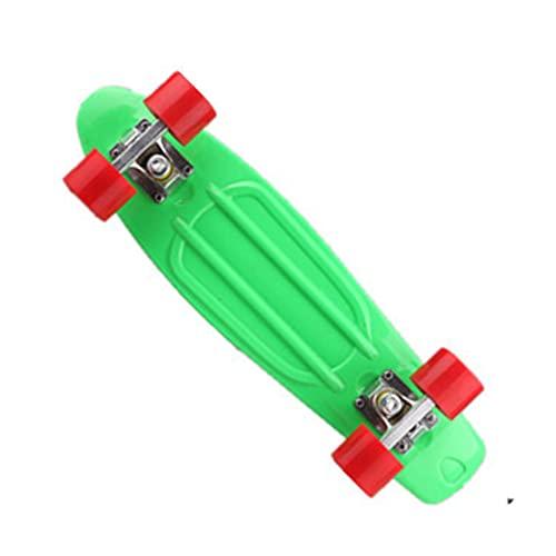 Pegatina de monopatín Skateboards, 22 pulgadas de pescado pequeño para adultos u adolescentes, tablero de skate Cruiser de arce, incluyendo camiones, ruedas de PU, patrón trasero, rodamiento La mayorí