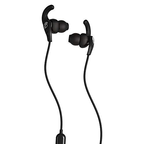 Skullcandy Set In-Ear Sport Cuffie Con Microfono Integrato, Resistenti A Sudore E Acqua, Vestibilità Leggera, Isolamento Acustico, Controllo Di Chiamate E Tracce Musicali, Nero