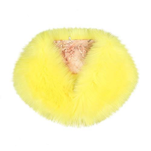 URIBAKY - Bufanda para mujer de piel sintética amarillo Talla única