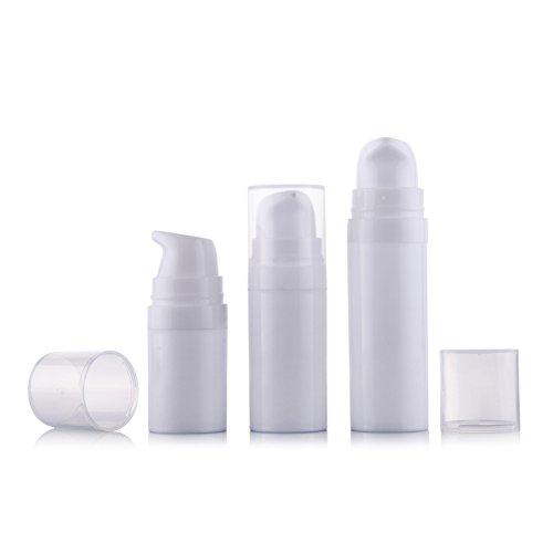 6 5 ml weiß leer tragbar nachfüllbar hochwertigem Kunststoff Airless Vakuum Pumpe Flasche Flakon Travel Mini Bajonett creme Lotion Toner Container Topf