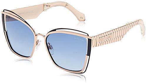 ROBERTO CAVALLI RC1096 - Gafas de sol para mujer, 33 W, color dorado y azul 57
