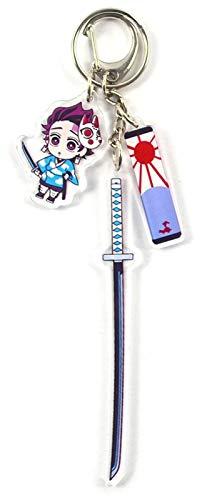JPSOUP Keychain de Anime japonés de Demonio Slayer Llavero para el Regalo de Cosplay para los Amantes del Anime (B) (Color : B)