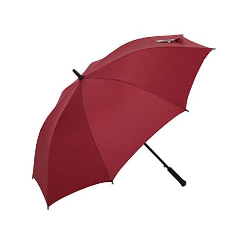 WNLBLB - Paraguas y Varillas Rectas de Acero táctil, Refuerzo Extra Grande Doble, Paraguas de Golf, Paraguas Ultravioleta, Paraguas, Paraguas Impermeables, Rojo, Size 2.00watts