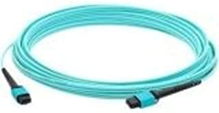 Add On 50m MPO (Male) to MPO (Male) 12-Strand Aqua OM3 Straight Fiber OFNR (Riser-Rated) Patch Cable