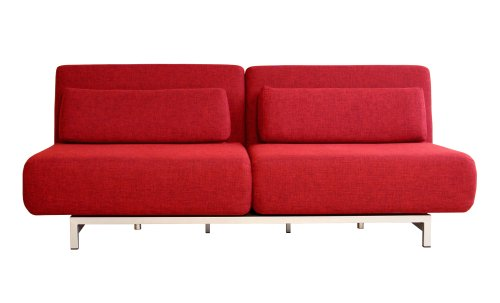 Hot Sale Quintiliano Convertible Sofa Bed, Red