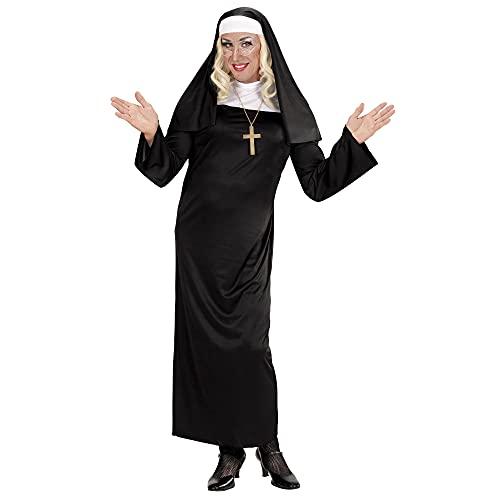 WIDMANN WDM01321 - Costume Per Adulti Suora, Nero, S