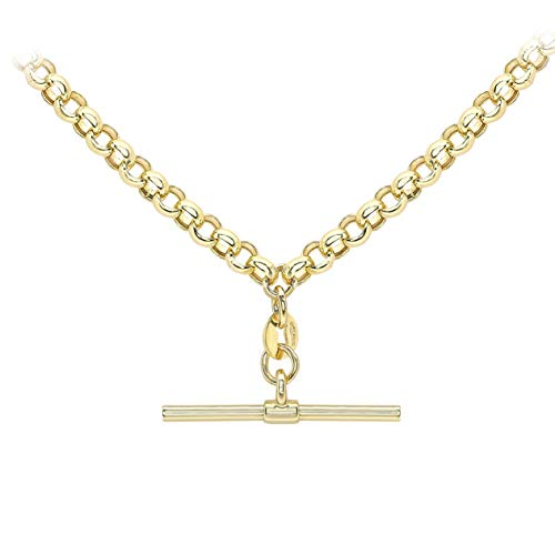 Carissima Gold Women's 9ct Yellow Gold Belcher Chain T-Bar Necklace - 46cm/18'