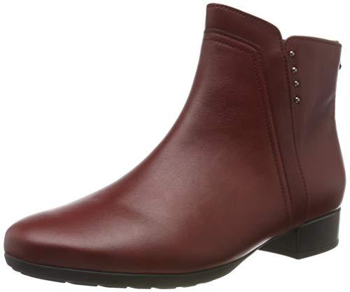 Gabor Shoes Comfort Sport, Botines Mujer, Rojo (Dark/Red (Micro) 68), 40 EU