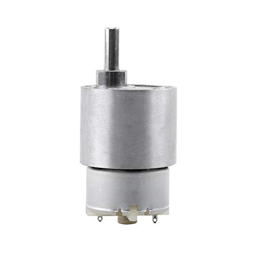 Akozon Getriebemotor DC 12V Drehmomentgetriebe, Elektromotor 3,5/15/30 / 70RPM Reduktion Motor 37MM Getriebemotor RF-500 Miniatur-Getriebemotor(70RPM)