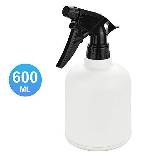 PERFETSELL Sprühflasche 600ml Blumensprüher Plastik Trigger Zerstäuber Nachfüllbar Leere Weiß Sprühflasche mit Verstellbarer Düse für Pflanze Blumen Garten Küche