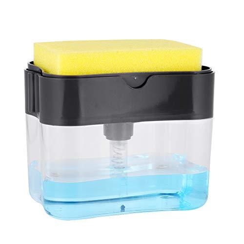 gigitube Soap Dispenser and Sponge Holder, Seifenspender Set Spülbecken Organizer Pumpseifenspender, Spülmittel-Spender für Küche Flüssigseifen Spender