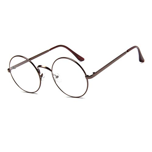 GUKOO Retro Rund metallgestell Unisex Brille Dekogläser Klassisches brillengestelle durchsichtige Brillen