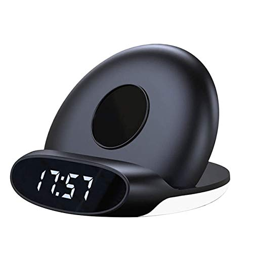 Kaidanwang Cabecera Cuarto Silencio Despertadores Relojes de Carga, Despertador de Carga inalámbrica con Altavoz, Brillo Ajustable y Volumen, Adecuado para el Dormitorio Regalo