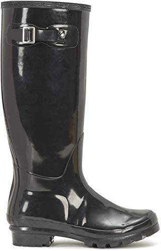 Polar Damen Original Tall Gloss Winter Wasserdicht Regen Gummistiefel Stiefel - Schwarz - 41