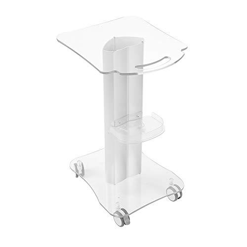 Beauty Salon Trolley Salon Rollwagen Verwenden Sie 4-Rad Aluminium Stand Plexiglas Sockel Ablage für Beauty Machine