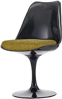 Eero Saarinen Silla Lateral de Estilo tulipán Verde Oliva Negro y Texturizado