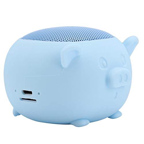 minifinker Micrófono Incorporado Altavoz inalámbrico Altavoz de micrófono Incorporado para iPad(Blue)