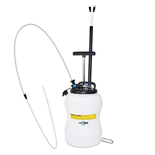 FIRSTINFO - Bomba extractora de vacío neumática/manual de 10 litros de aceite y fluido, incluye tubo de nailon de extensión de 3,5 x 4,5 mm